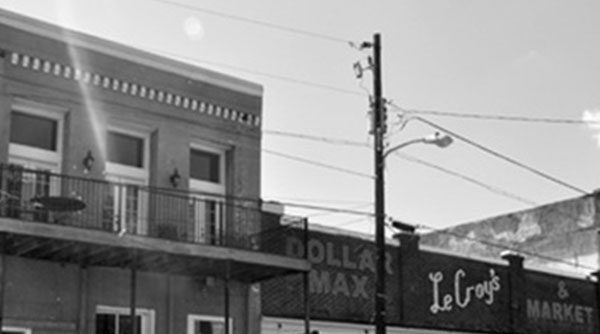 Main Student Story Image - Top of buildings on street in Marion, AL.
