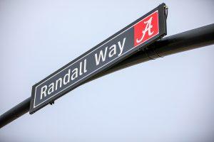 Randall Way street sign